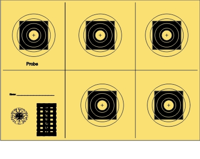 BDMP-Scheibe Nr. 3 reduziert für 50 m