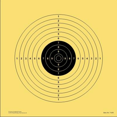 Ordonnanzgewehr-Scheibe 50 m