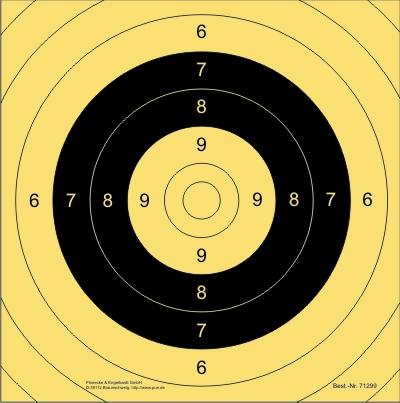 Spiegel BDS-Scheibe Nr. 9. Kurzwaffen 25 m/MD