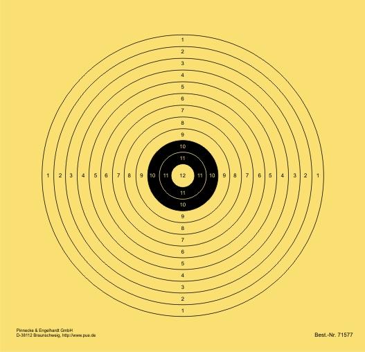 LG-Scheibe 10 m. 12-kreisig. mit weißer 12