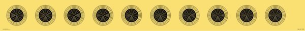 LG-Scheibenstreifen 10 m. 10 Scheibenbilder