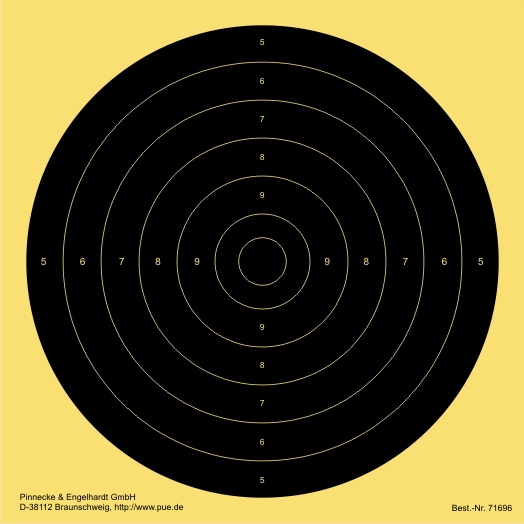 Schnellfeuer-/Duell-Scheibe. verkl.für LP 10 m. fortl.num.