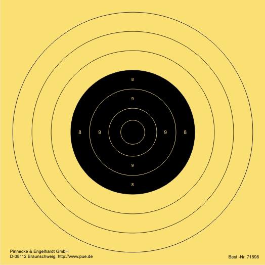 Schnellfeuer-/Duell-Scheibe. verkleinert für Luftpistole 10 m