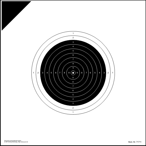 Internationale Armbrustscheibe 30 m (Probe)