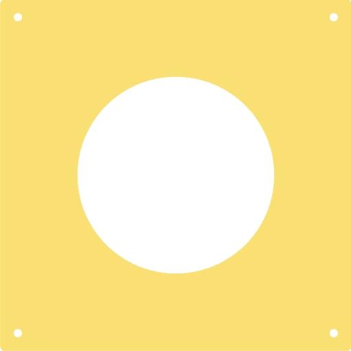 Vorsatzscheibe f. DISAG OpticScore/Zielbilder KK 50 m