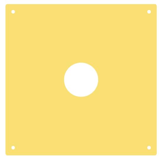 Für MEYTON-Anlagen/Zimmerstutzen-Vorsatzscheibe 15 m