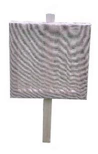 Balkenkreuz-Scheibenrahmen mit Jutebespannung