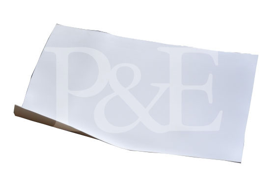 MIPOPLAST-Scheiben-Folie. Rollenbreite 125 cm. Farbe weiß