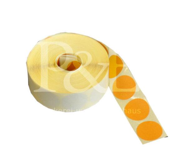 Schusspflaster Durchmesser 20 mm gelb