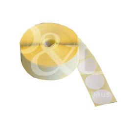 Schusspflaster Durchmesser 30 mm  lichtdichte Alu-Einlage.  weiß