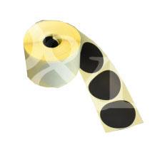 Schusspflaster Durchmesser 35 mm schwarz
